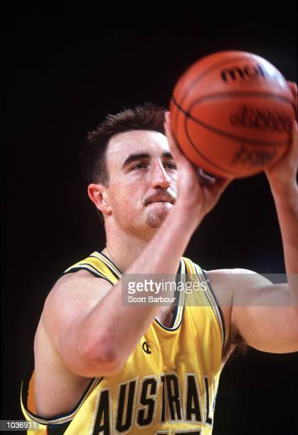 Paul Rogers of Australia in action against Canada during the Slam Down Under Basketball competition a Sydney Olympic Test Event Superdome Homebush...