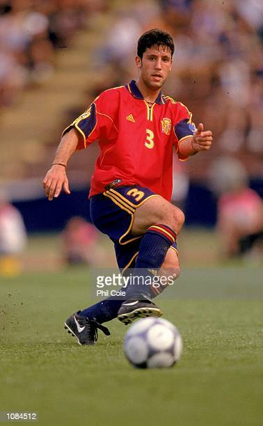 Capdevila of Spain in action during the European Under21 Championships match against Slovakia played at the Inter Stadium in Bratislava Slovakia...