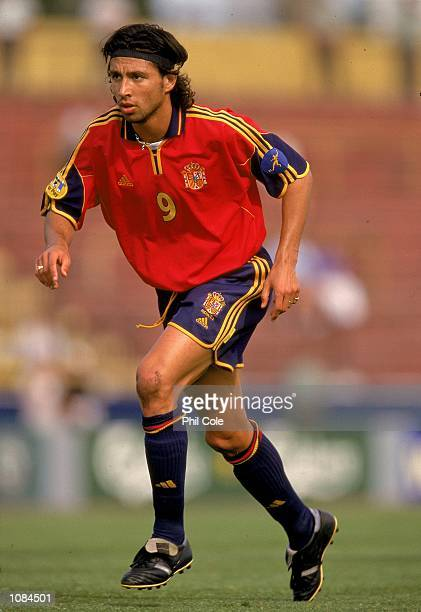 Jose Mari of Spain in action during the European Under21 Championships match against Slovakia played at the Inter Stadium in Bratislava Slovakia...
