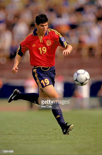 Luque of Spain in action during the European Under21 Championships match against Slovakia played at the Inter Stadium in Bratislava Slovakia Spain...