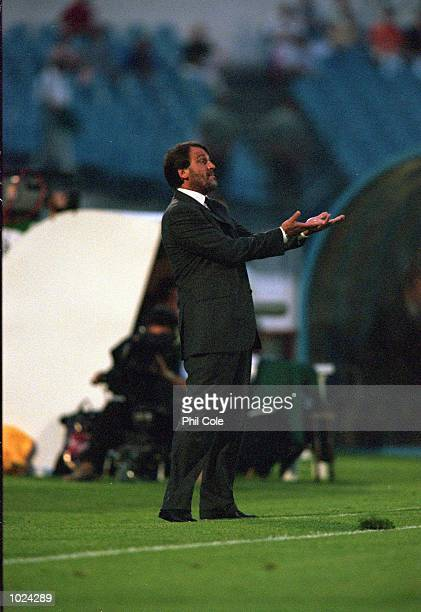 Marco Tardelli Italy Coach during the European Championships Under 21 Final against Czech Republic at the Slovan Stadium Bratislava Slovakia Italy...