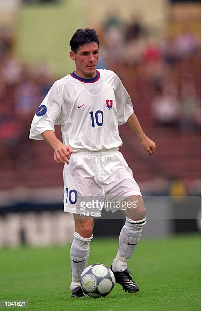 Peter Babnic of Slovakia in action during the European Under21 Championships 2000 third place playoff against Spain at the Inter Stadium in...