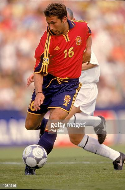 Tamudo of Spain in action during the European Under21 Championships match against Slovakia played at the Inter Stadium in Bratislava Slovakia Spain...