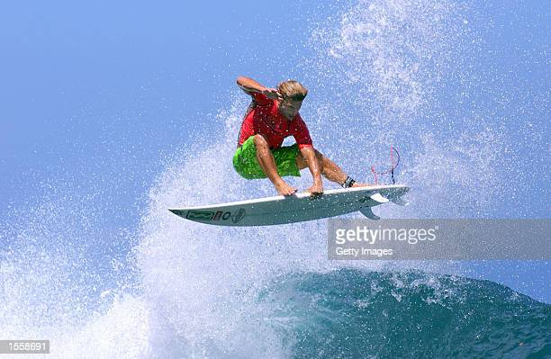 World champion Mark Occhilupo in action after winning the richest prize in professional surfing when he won the OP Pro Boat Challenge today in the...