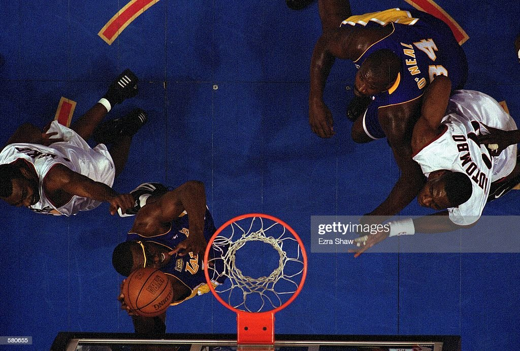 Horace Grant #54 of the Los Angeles Lakers puts up a shot during Game 5 of the NBA Finals against the Philadelphia 76ers at the First Union Center in Philadelphia, Pennsylvania. The Lakers won 76ers 108-96.