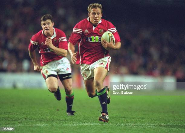 Jonny Wilkinson of the British Lions in action during the tour match against NSW Waratahs at the Sydney Football Stadium in Sydney Australia...