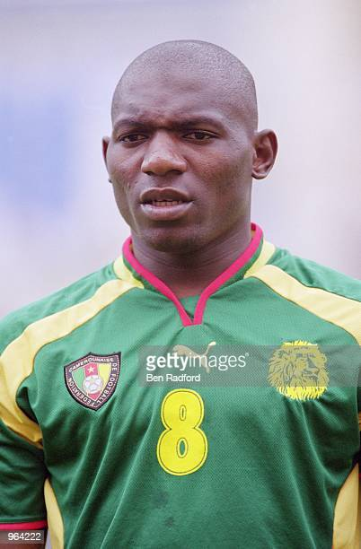 Portrait of Geremi Njitap of Cameroon before the start of the FIFA Confederations Cup Match against Japan at the Niigata Stadium in Niigata Japan...