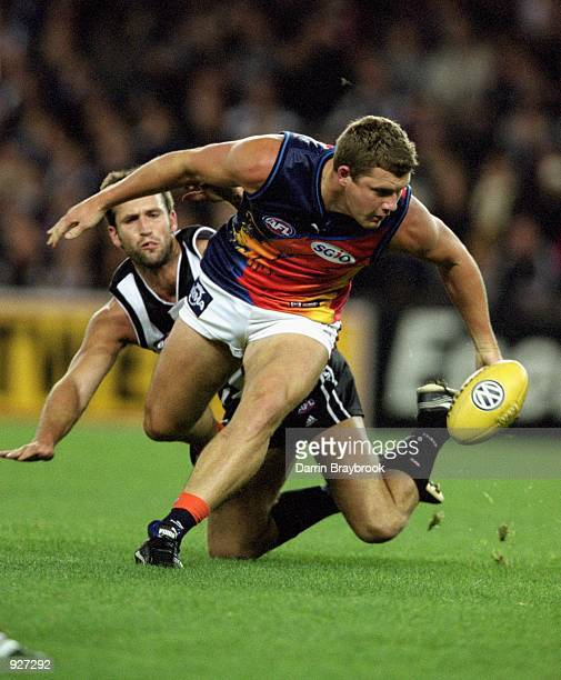 Scott Cummings for West Coast in action during round 12 of the AFL season match played between the Collingwood Magpies and the West Coast Eagles held...