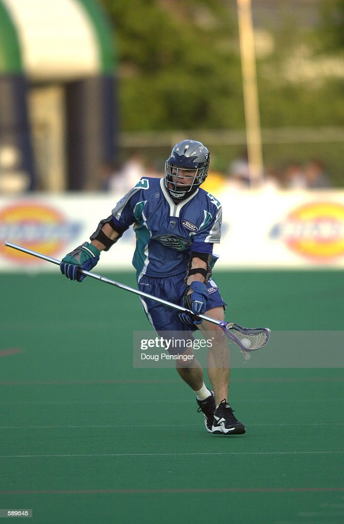 Tom Slate Jr #3 of the Baltimore Bayhawks handles the ball as the Bayhawks defeated the Long Island Lizards 1316 in the Inaugural Game of Major...