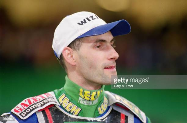 Tomasz Gollob of Poland looks satisfied with his third place finish at the British Speedway Grand Prix at the Millennium Stadium in Cardiff Wales...