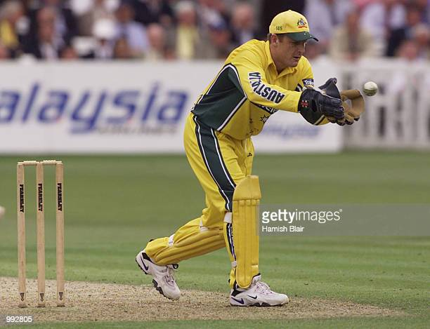 Wade Seccombe of Australia takes a return during the oneday tour match between Middlesex and Australia at Lords Cricket Ground London England DIGITAL...