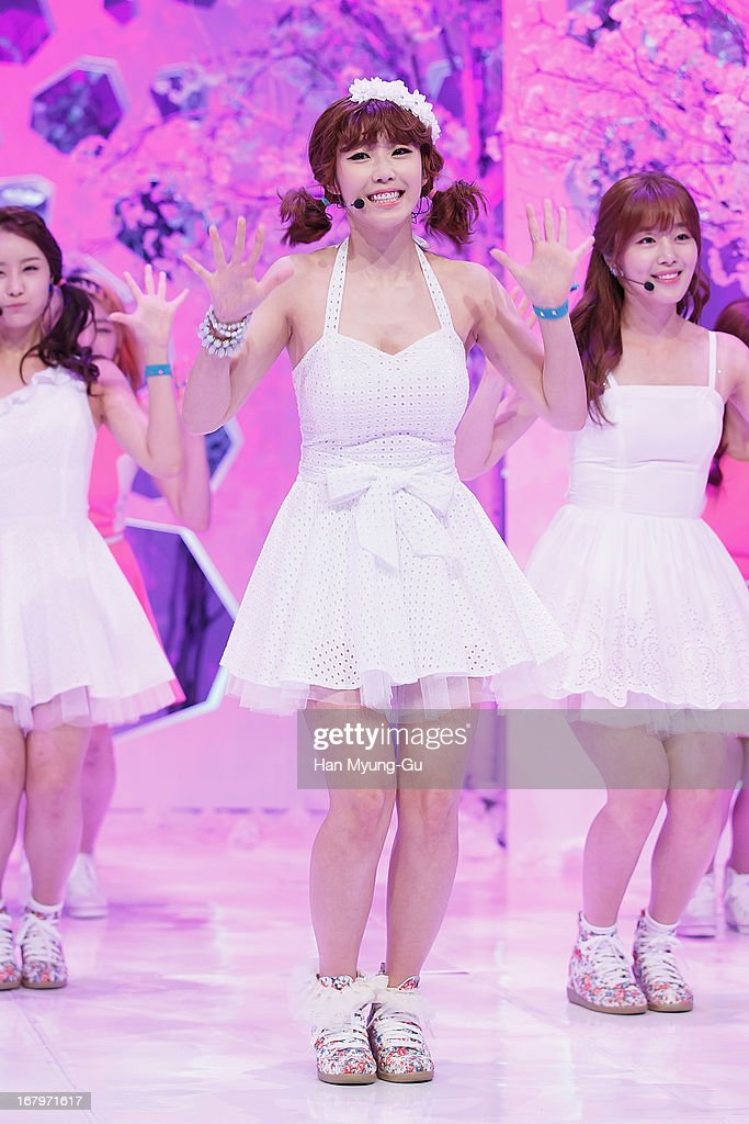 Jun Hyo-Seong of South Korean girl group Secret performs onstage during the Mnet 'M CountDown' at CJ E&M Center on May 02, 2013 in Seoul, South Korea.