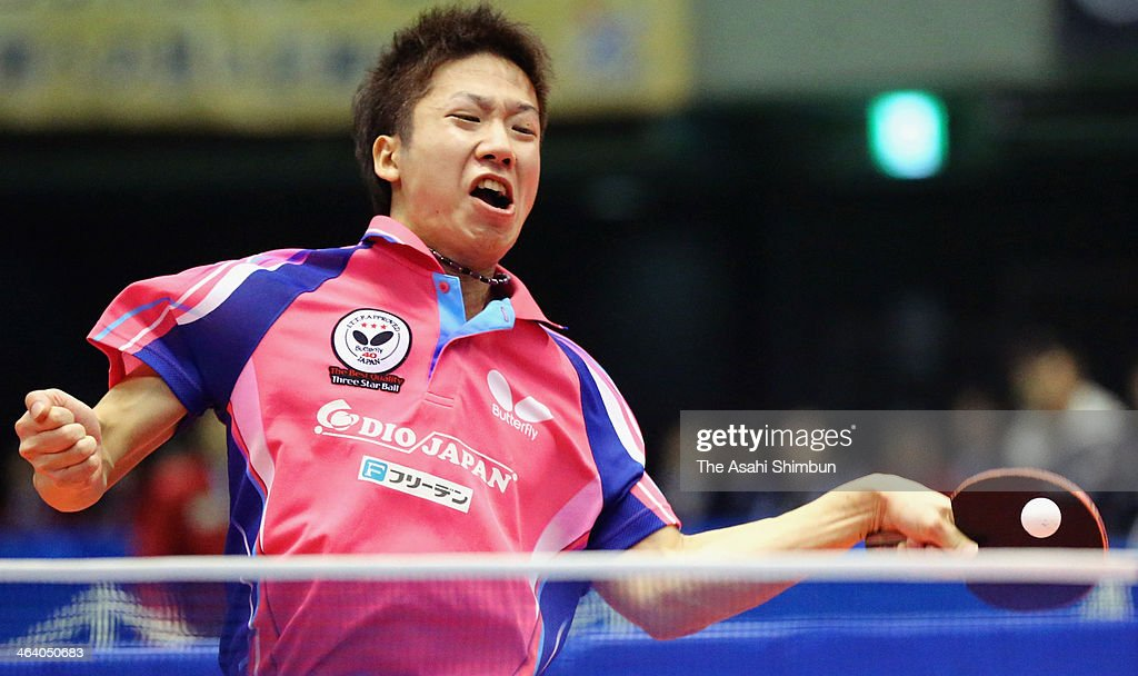 <a gi-track='captionPersonalityLinkClicked' href=/galleries/search?phrase=Jun+Mizutani&family=editorial&specificpeople=2161469 ng-click='$event.stopPropagation()'>Jun Mizutani</a> competes against Asuka Machi at All Japan Table Tennis Championships at Tokyo Gymnasium on January 19, 2014 in Tokyo, Japan.