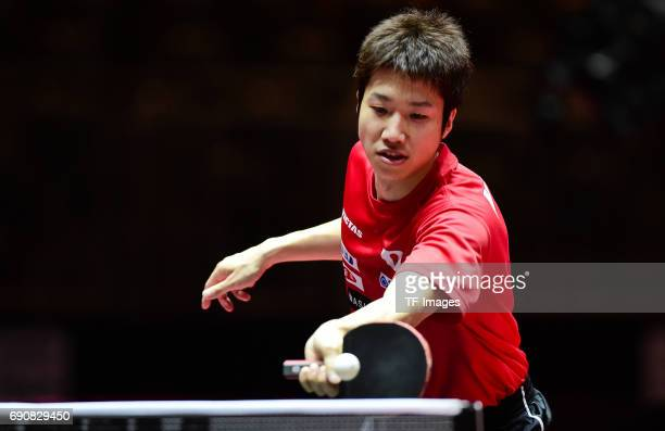 jun mizutani 'n in action during the Table Tennis World Championship at Messe Duesseldorf on May 29 2017 in Dusseldorf Germany