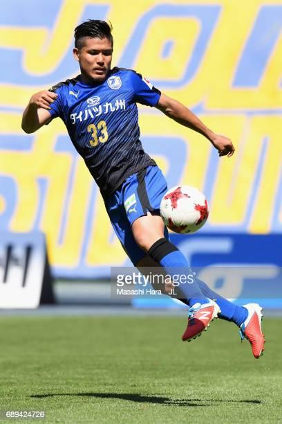 Jun Suzuki of Oita Trinita in action during the JLeague J2 match between Oita Trinita and Fagiano Okayama at Oita Bank Dome on May 28 2017 in Oita...