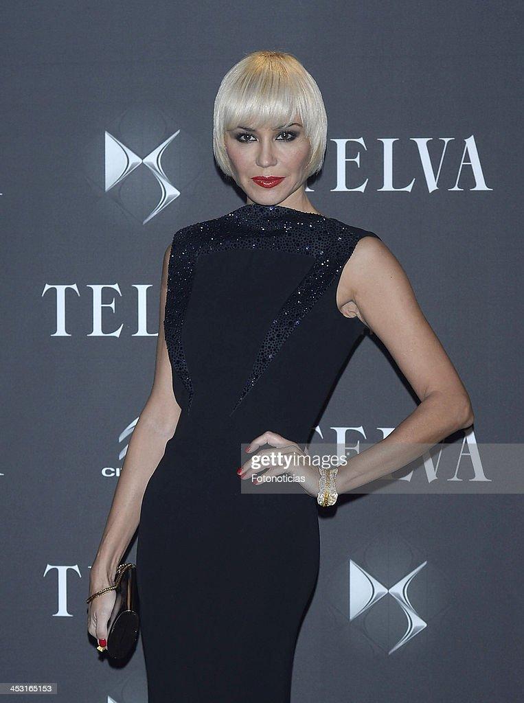Juncal Rivero attends 2013 Telva Fashion Awards at the Palacio de Cibeles on December 2, 2013 in Madrid, Spain.