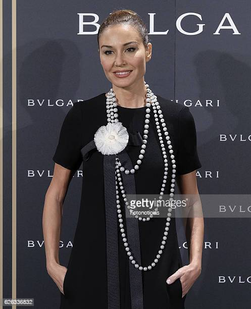 Juncal Rivero attends the 'Bvlgari y Roma' exhibition presentation at the Italian Embassy on November 28 2016 in Madrid Spain