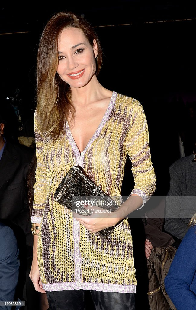 Juncal Rivero attends the Custo Barcelona fashion show as part of the 080 Barcelona Fashion Week Autumn/Winter 2013-2014 on January 30, 2013 in Barcelona, Spain.
