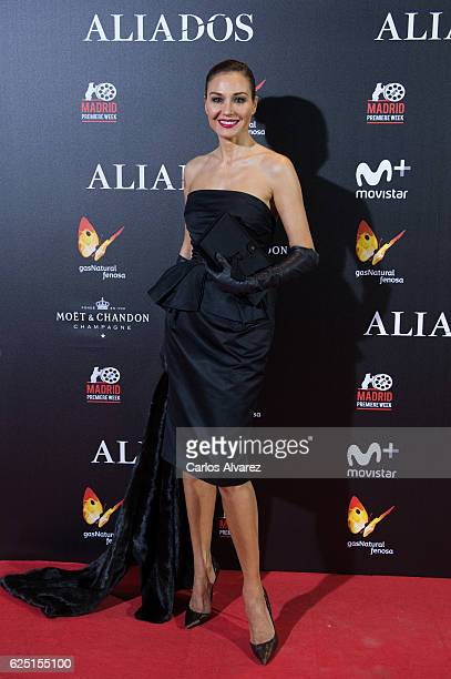 Juncal Rivero attends the Madrid premiere of the Paramount Pictures title 'Allied' at Callao City Lights on November 22 2016 in Madrid Spain
