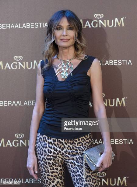 Juncal Rivero attends the Magnum new campaign presentation party at the Palacete de Fortuny on June 14 2017 in Madrid Spain