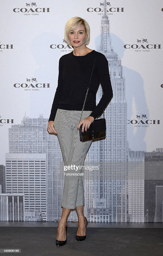 Juncal Rivero attends the opening of Coach boutique on November 20, 2013 in Madrid, Spain.