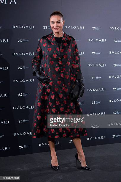 Juncal Rivero attends the opening of the exhibition 'Bulgari and Roma' at Italian Embassy on November 28 2016 in Madrid Spain