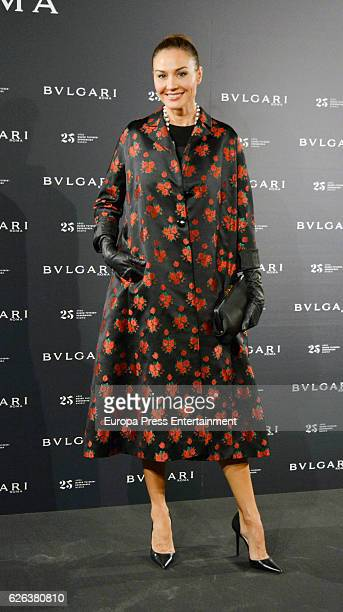 Juncal Rivero attends the opening of the exhibition 'Bulgari and Roma' at ThyssenBornemisza Museum on November 28 2016 in Madrid Spain