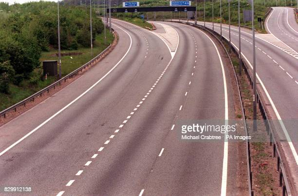 Junction 21 off the M25 for the M1 deserted this morning following a series of bomb warnings presumed to be the work of the IRA The series of alerts...