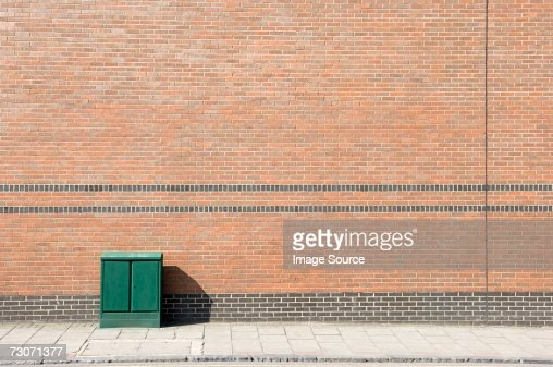 Junction box on a street : Stock Photo