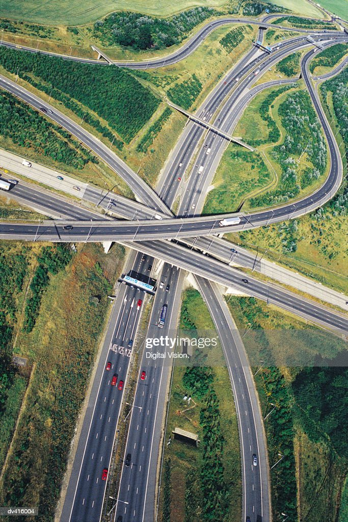 M1 - M25 Junction, England, UK,