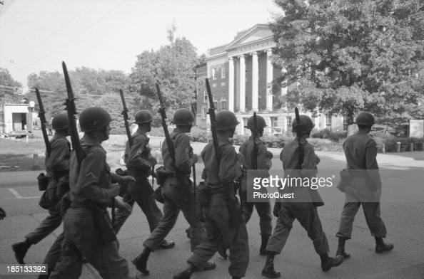 June 11 1963 Federalized National Guard troops on the campus of the University of Alabama June 11 1963 when African Americans Vivian Malone and James...