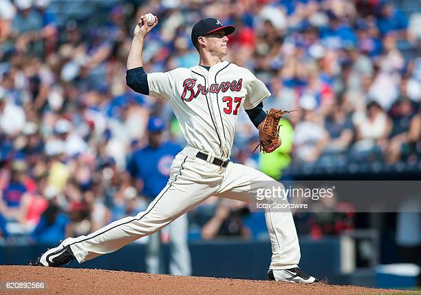 Atlanta Braves Pitcher Matt Wisler [10308] during a game between Chicago Cubs and Atlanta Braves at Turner Field in Atlanta GA