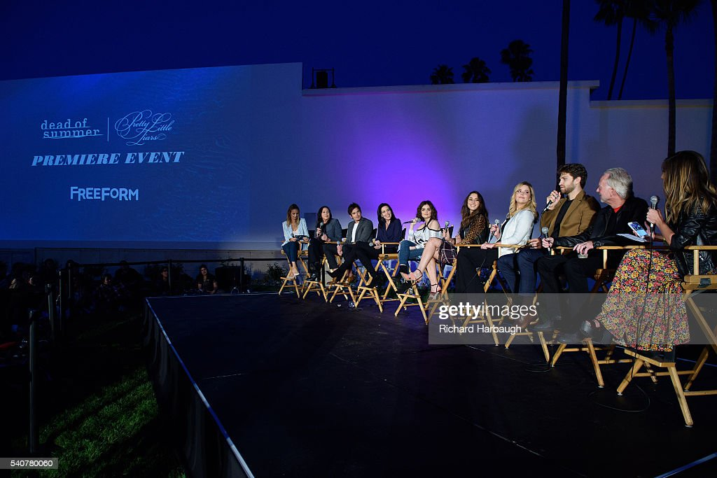FREEFORM June 15 2016 'Pretty Little Liars' and 'Dead of Summer' premiere event at the Hollywood Forever Cemetery TYLER BLACKBURN ANDREA PARKER LUCY...