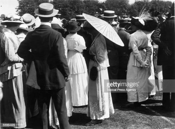 Spectators at the Wimbledon Lawn Tennis Championships