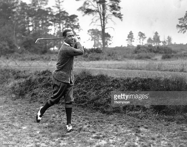 Golf Match England v America Walter Hagen winner of the USPGA and Ryder Cup Captain in play