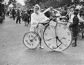 'Father Time' at the Cycle Carnival at Clapham London