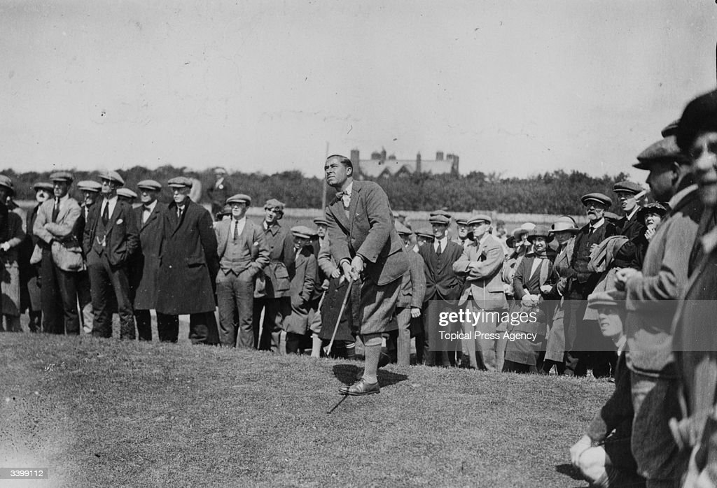 American golfer Walter Hagen chips from the tenth during the Open Championships at Troon South Ayrshire Hagen became interested in golf while working...