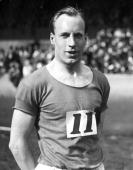 'Flying Scotsman' Eric Liddell the 1924 400 metres Olympic gold medal winner winner of the quarter mile event at the Amateur Athletic Association...