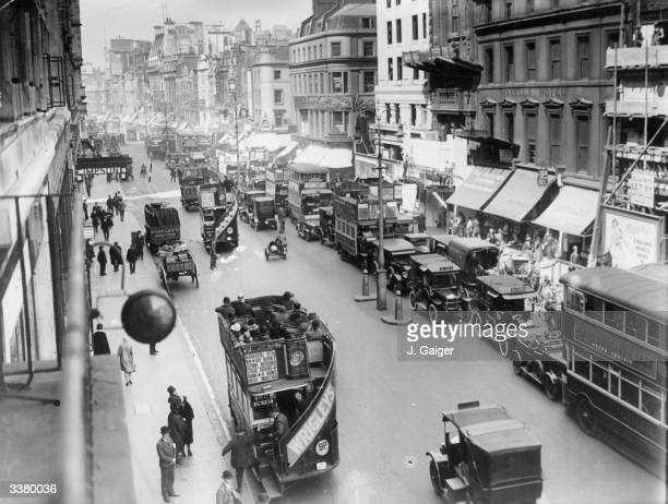 Traffic in the Strand London