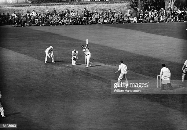 Frank Worrell of the West Indies cricket team in action batting during their match against Cambridge Original Publication Picture Post 5056 Fine...