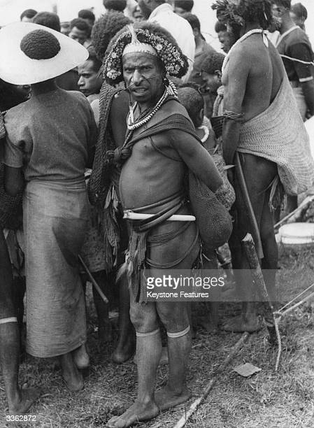 Duna tribesman from the Tari area in the highlands of Papua New Guinea