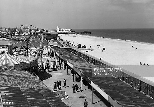 The beach promenade and fairground at the English seaside resort of Great Yarmouth