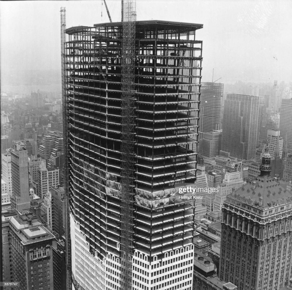 Building Under Construction : The new pan american airways building under construction