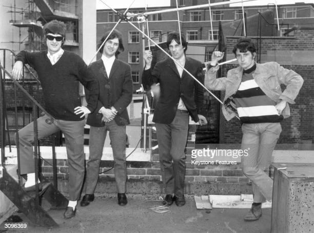 British pop band the Kinks Ray Davies Dave Davies Mick Avory and Peter Quaife