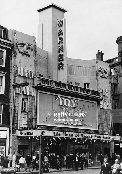 The Warner cinema in London's Leicester Square showing the latest Audrey Hepburn movie 'My Fair Lady'