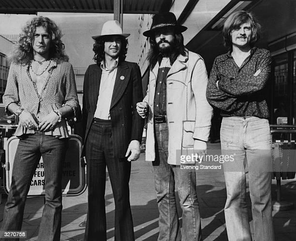 British rock band Led Zeppelin From left to right Robert Plant Jimmy Page John Bonham John Paul Jones