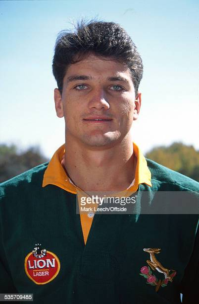 3 June 1994 England Rugby Union Tour of South Africa Photocall Joost van der Westhuizen of South Africa