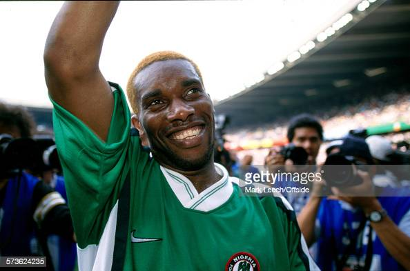 19 June 1998 Fifa World Cup Nigeria v Bulgaria Jay Jay Okocha of Nigeria