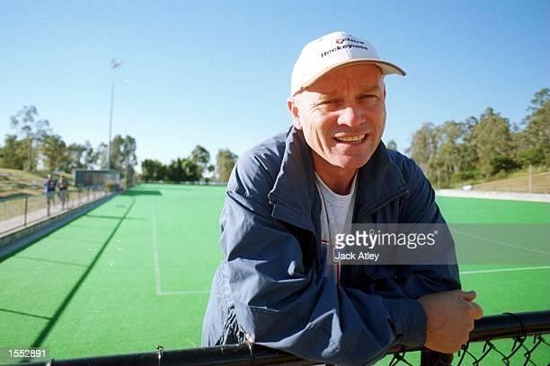 Australian ''Hockeyroo's'' womens hockey team coach Ric Charlesworth at the State Hockey Centre Brisbane Australia during the FIH Champions Hockey...