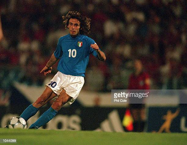 Andrea Pirlo of Italy in action during the European Under 21's Championships Final against Czech Republic at the Slovan Stadium Bratislava Slovakia...